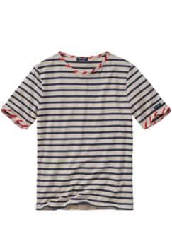 Bretagne-Shirt Beaulieu Streifen ecru/marine Detail 1