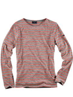 Scribbled Bretagne-Shirt Streifen rot/grau Detail 1