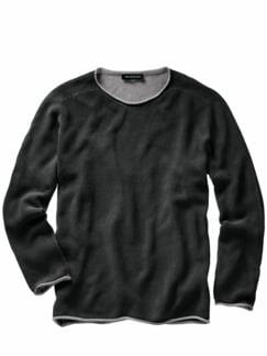 Schmirgel-Pullover nachtschwarz Detail 1