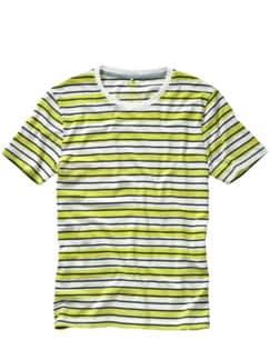 Textmarker-Shirt Cistan Streifen gelb/weiß Detail 1