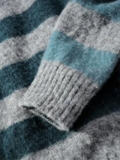 Sofortbild-Pullover Stripes grau/blau Detail 4