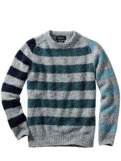 Sofortbild-Pullover Stripes grau/blau Detail 1
