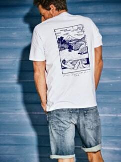 Fuji-Shirt weiß Detail 3