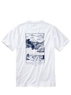 Fuji-Shirt weiß Detail 2