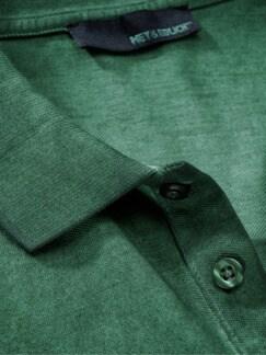 Vintage-Polo waldgrün Detail 3