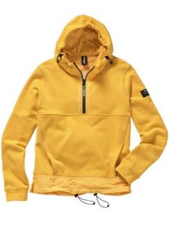 Sweathoodie Wels shiny yellow Detail 1