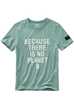 No Planet B Shirt aqua green Detail 1