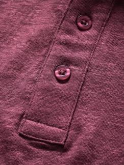 Leinenpolo rosenholz Detail 4