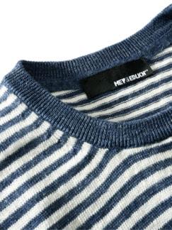 Jan Maat Pullover Streifen blau/weiß Detail 3