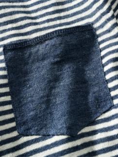 Jan Maat Pullover Streifen blau/weiß Detail 4