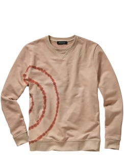 Shibori-Sweatshirt glasiertes ingwer Detail 1