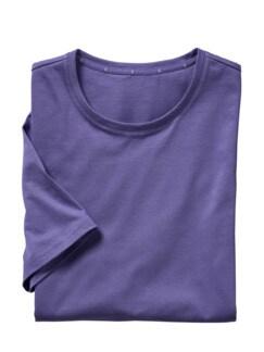 Pima-Shirt lila Detail 1