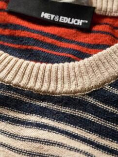 Wüstenschiff-Pullover Streifen beige/rot/blau Detail 3