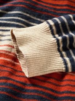 Wüstenschiff-Pullover Streifen beige/rot/blau Detail 4