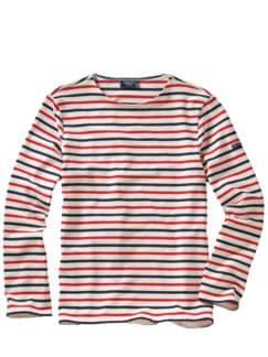 Bretagne-Shirt Meridien Streifen trikolore Detail 1