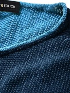 Schmirgel-Pullover blau Detail 4