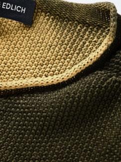 Schmirgel-Pullover ocker Detail 3