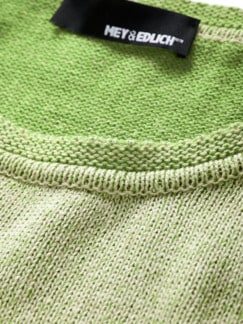 Kick-off-Pullover sand/grün Detail 4