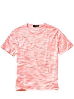 Pointen-Strickshirt weiß/neon Detail 1