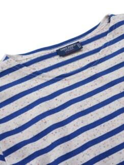 Bretagne-Shirt Meridien Streifen natur/blau Detail 2