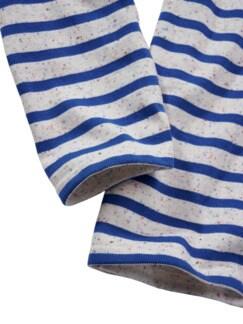 Bretagne-Shirt Meridien Streifen natur/blau Detail 3