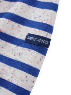 Bretagne-Shirt Meridien Streifen natur/blau Detail 4