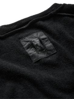 Frottee-Shirt Pi35sa schwarz Detail 3