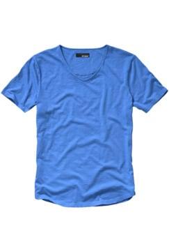 130-Gramm-Shirt blau Detail 1