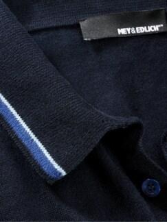 Gentiluomo-Strickpolo navy Detail 3