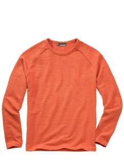 Schlaufen-Sweatshirt terracotta Detail 1