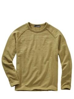 Schlaufen-Sweatshirt heu Detail 1