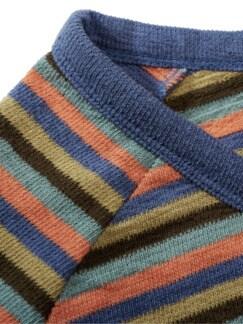 Schlaufen-Sweatshirt Streifen türkis Detail 4