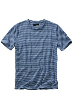 Denim Lovers T-Shirt Streifen indigo Detail 1