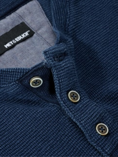 Denim Lovers Henley indigo Detail 4