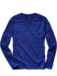Naturelite-Pullover meerblau Detail 1