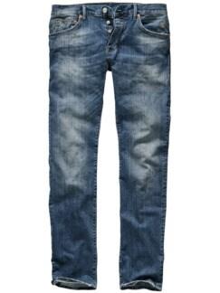 Zerkratzte Jeans used mid blue Detail 1