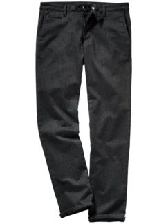 Fake Business-Pants schwarz/grau Detail 1