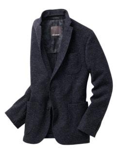 Pullover-Sakko Karo blau/schwarz Detail 1