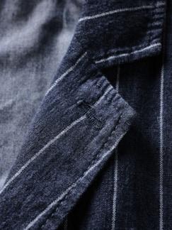 Leadership-Weste Streifen italienischblau Detail 4
