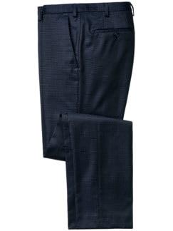 Stilbruch-Anzughose blau Detail 1