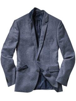 Italienisches Tweedanzugsakko blau/grau Detail 1