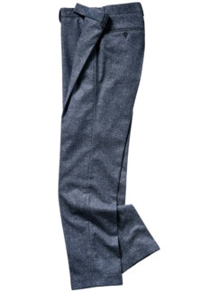 Italienische Tweedanzughose blau/grau Detail 1