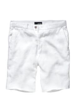 Flachs-Shorts weiß Detail 1