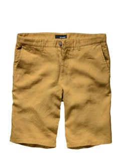 Flachs-Shorts senf Detail 1