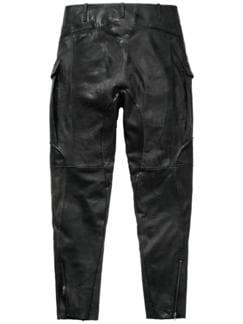 Mailand Lederhose schwarz Detail 2