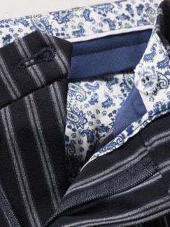 Matratzen-Chino Streifen schwarz Detail 4