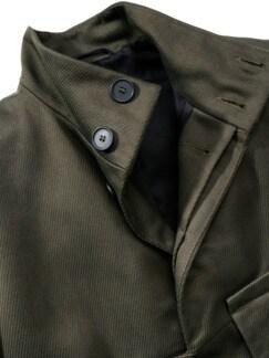 Flap Coat oliv Detail 2