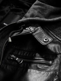 Momentum-Lederjacke schwarz Detail 3