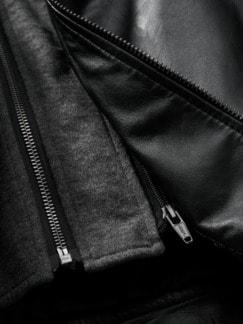 Momentum-Lederjacke schwarz Detail 4