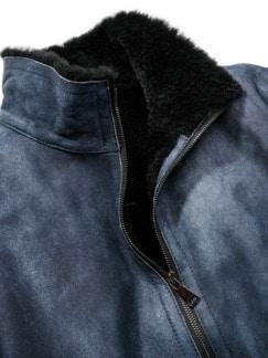 Schaffell-Fliegerjacke used-blue Detail 4